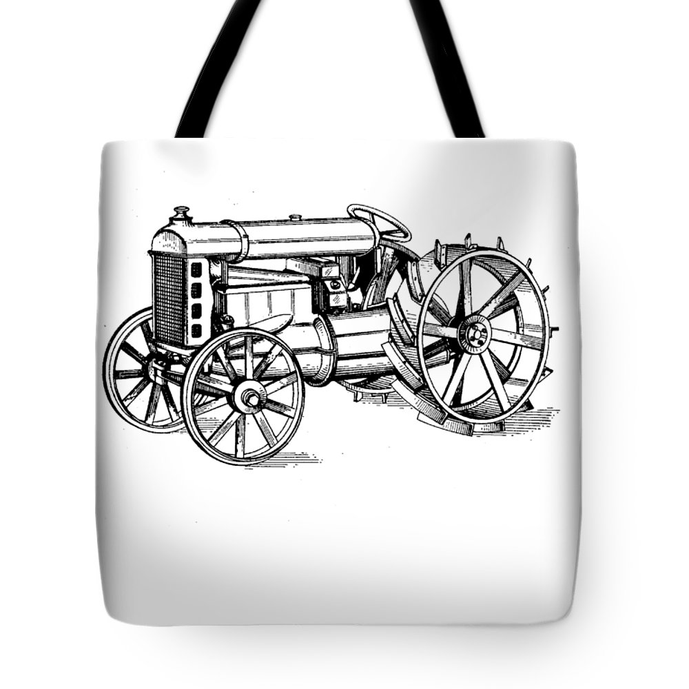Patent Tote Bag featuring the photograph Tractor 1919 Henry Ford T-shirt by Edward Fielding