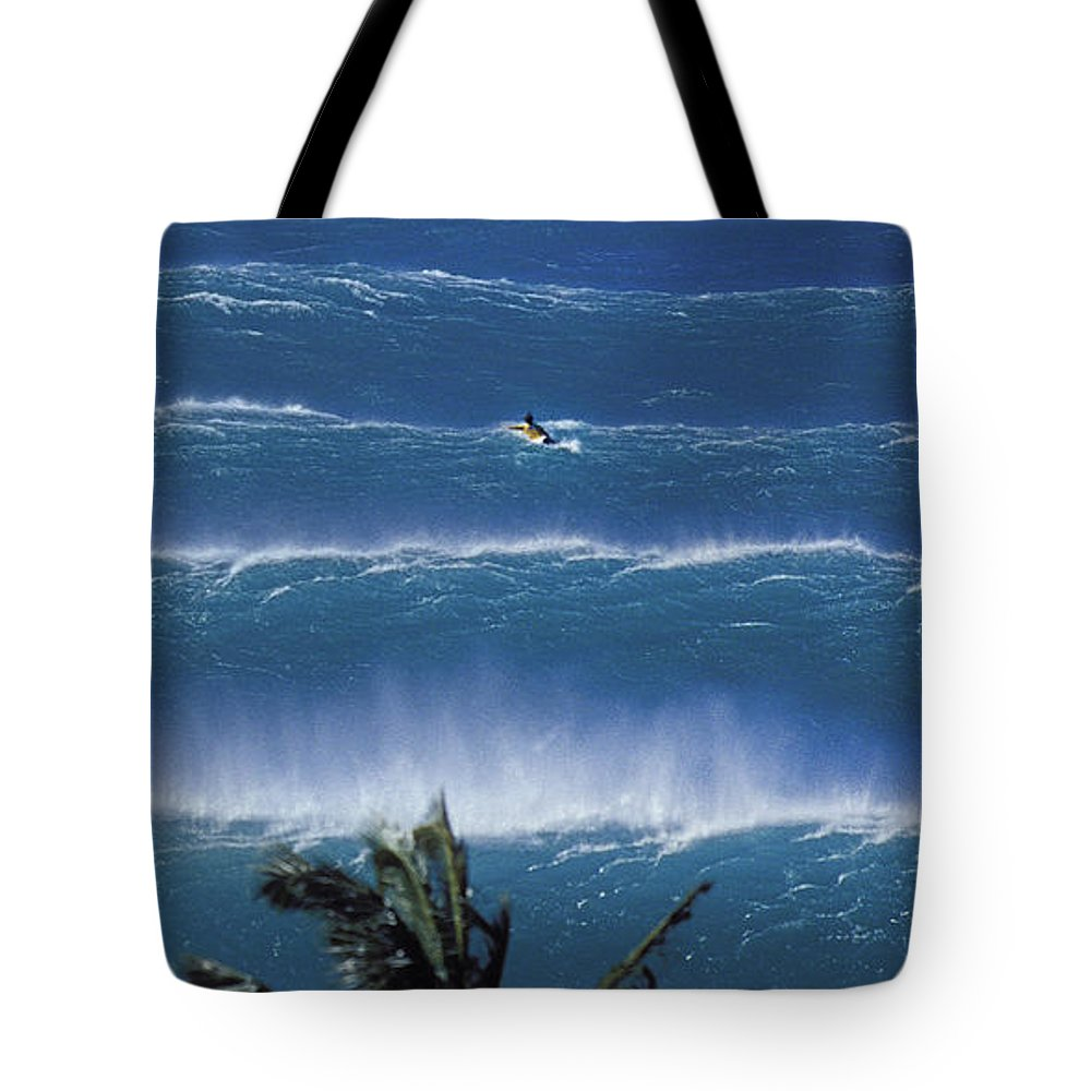 Surf Tote Bag featuring the photograph Trade Lines - Part 3 Of 3 by Sean Davey