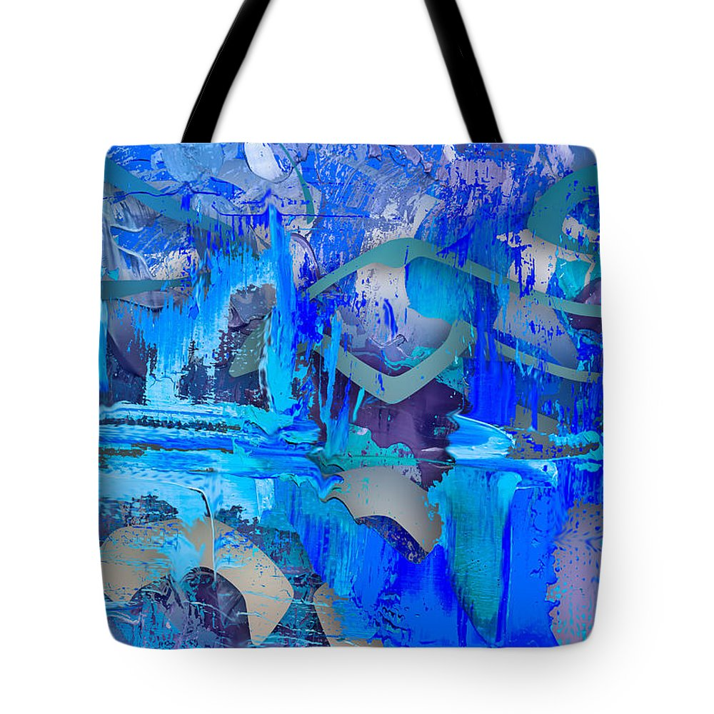 Blue Tote Bag featuring the digital art Trades by Eric J Amsellem