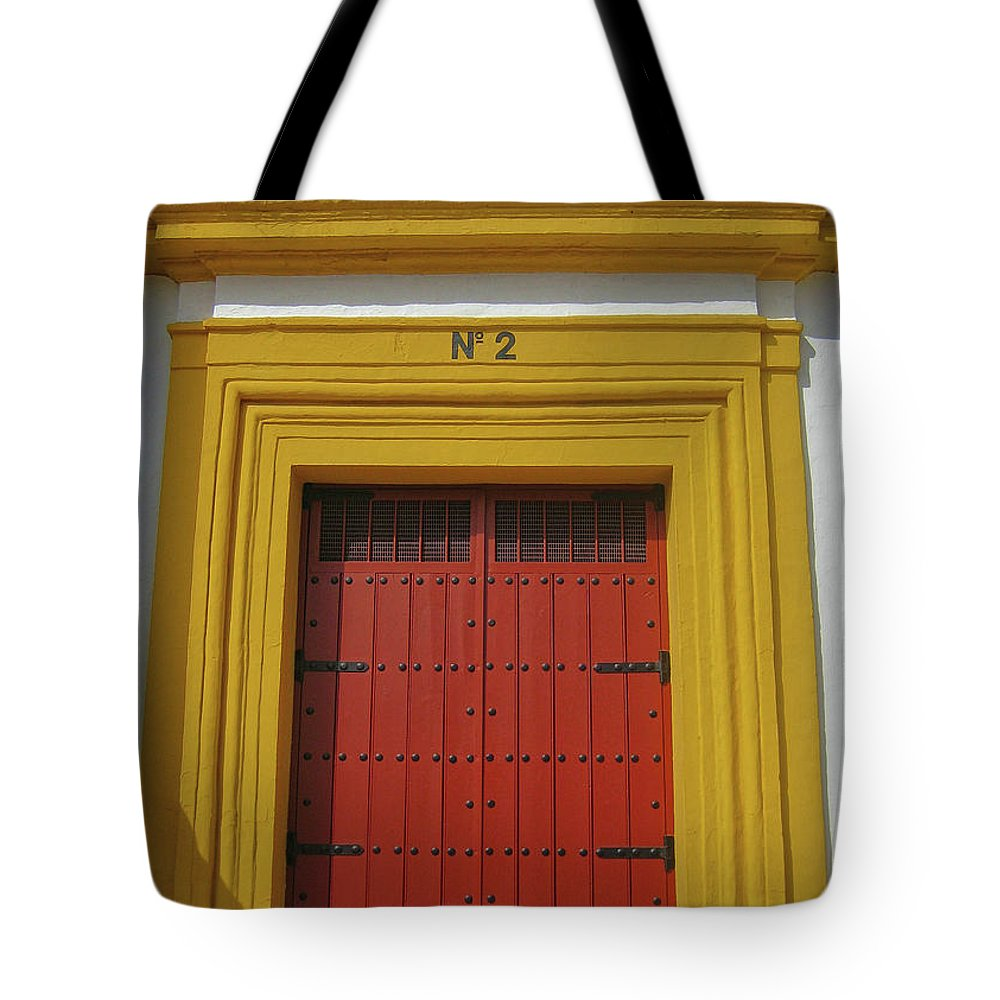 Door Tote Bag featuring the photograph Traditions Of Sevilla by JAMART Photography