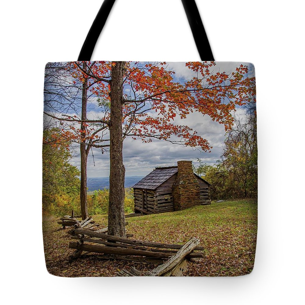 Fall Tote Bag featuring the photograph Trail Cabin by Kevin Craft
