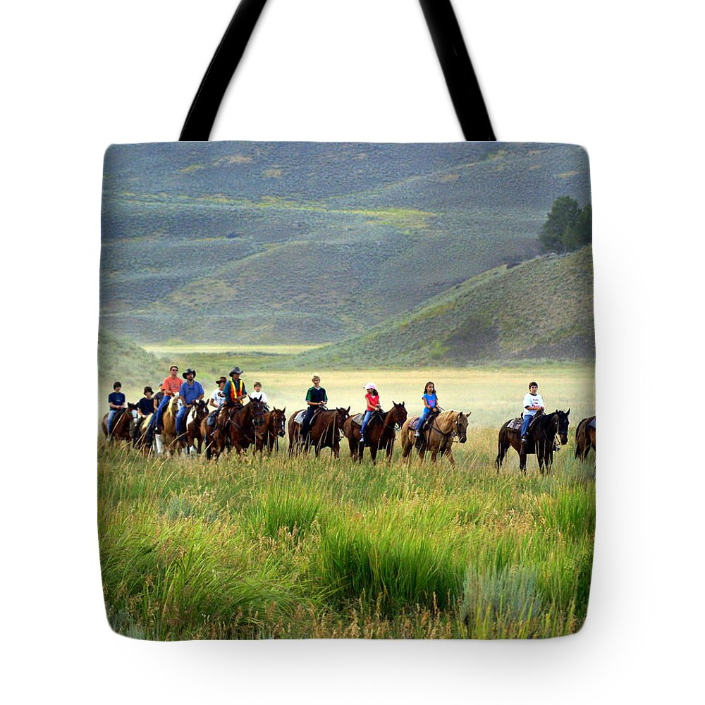 Trail Ride Tote Bag featuring the photograph Trail Ride by Marty Koch