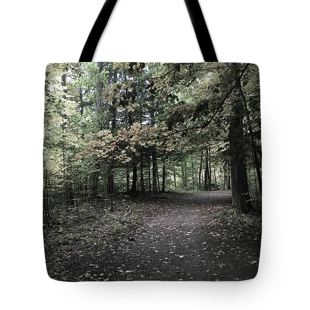 Tote Bag featuring the photograph Trail Walking by Jessica Olney