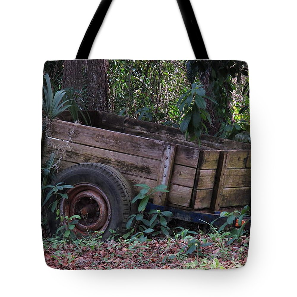 Landscape Tote Bag featuring the photograph Trailer by Roger Epps