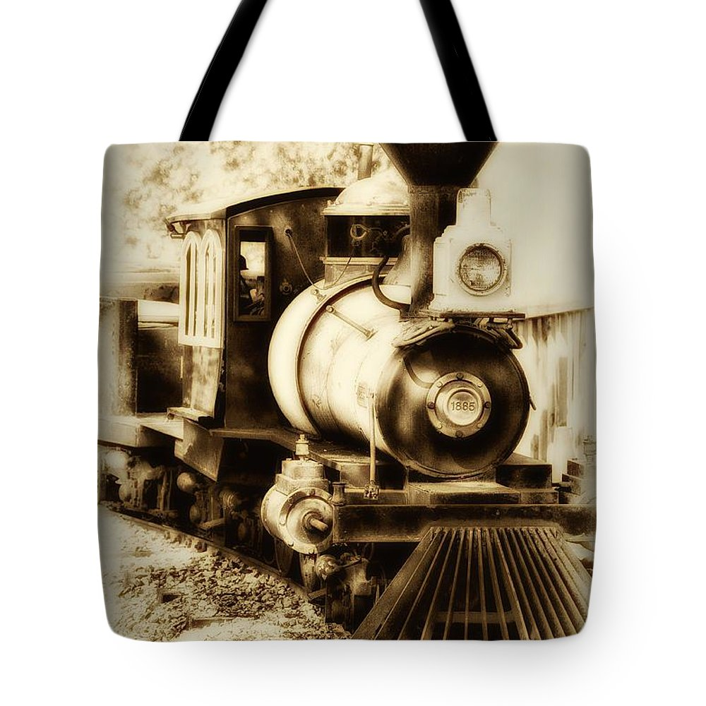 Train Tote Bag featuring the photograph Train Keeps A Rolling by Bill Cannon