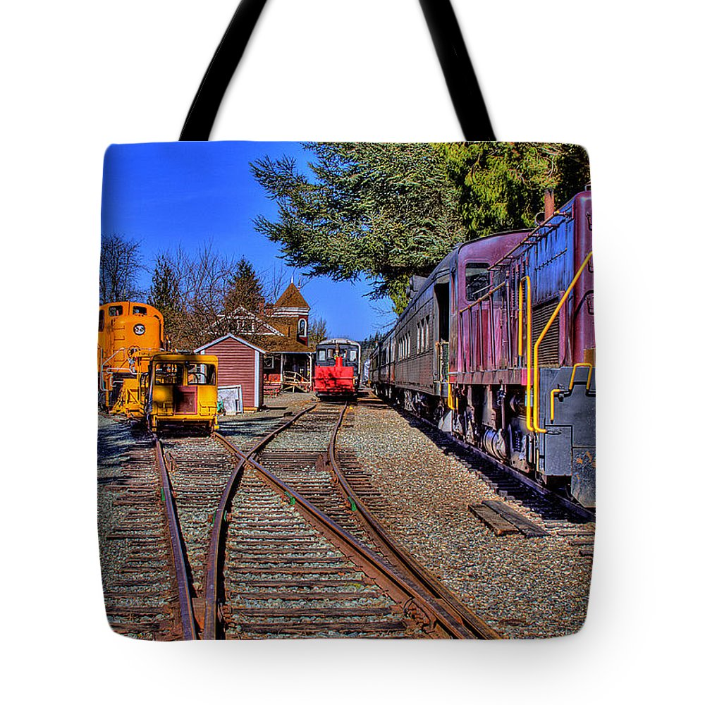 Train Tote Bag featuring the photograph Train No. 5 by David Patterson