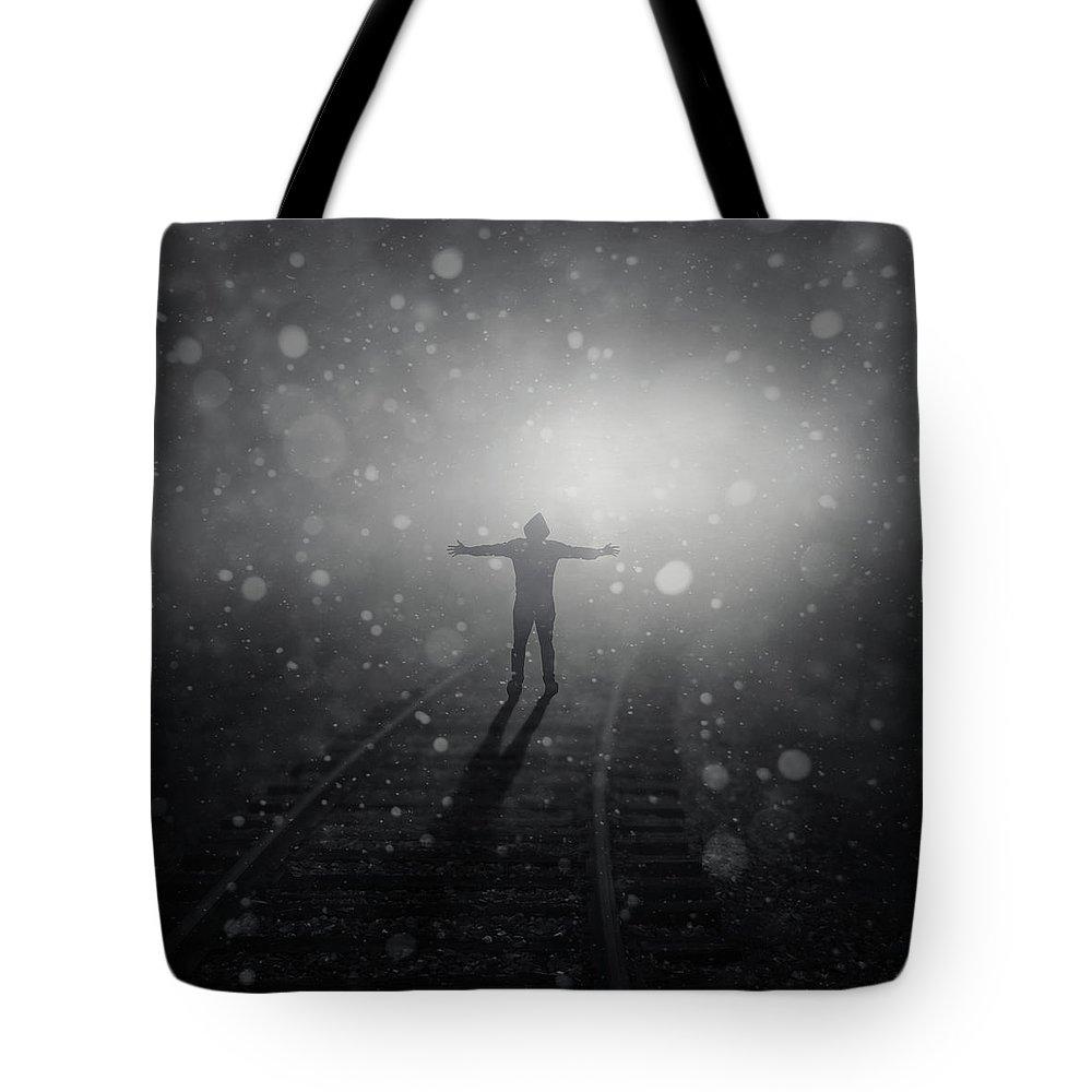 Standing Digital Art Tote Bags