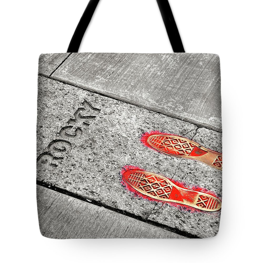 Rocky Tote Bag featuring the photograph Training Run by JAMART Photography