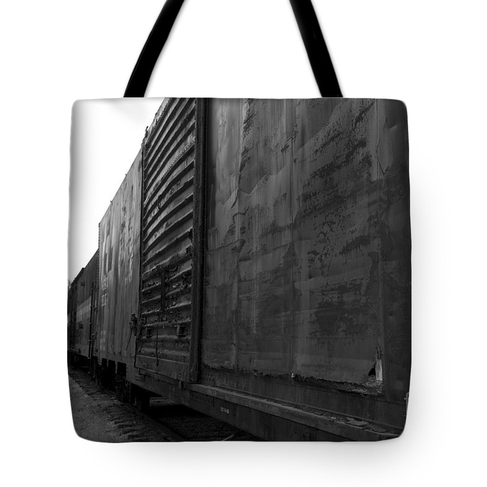 Train Tote Bag featuring the photograph Trains 12 Box Camera by Jay Mann