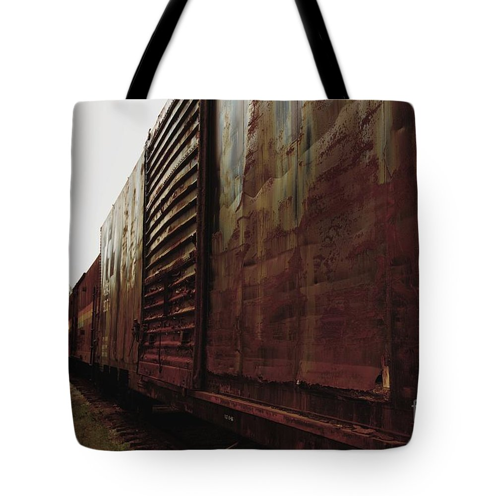 Train Tote Bag featuring the photograph Trains 12 Retro by Jay Mann