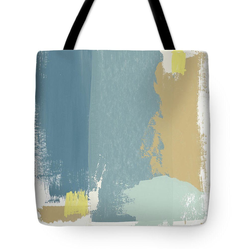 Abstract Tote Bag featuring the mixed media Tranquil Abstract 1- Art By Linda Woods by Linda Woods