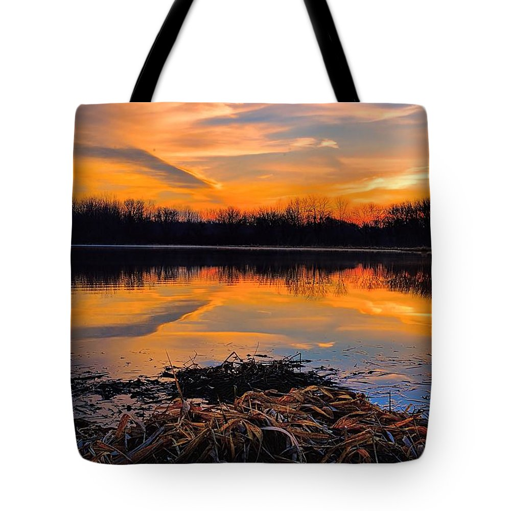 Sunrise Tote Bag featuring the photograph Tranquil by Bonfire Photography