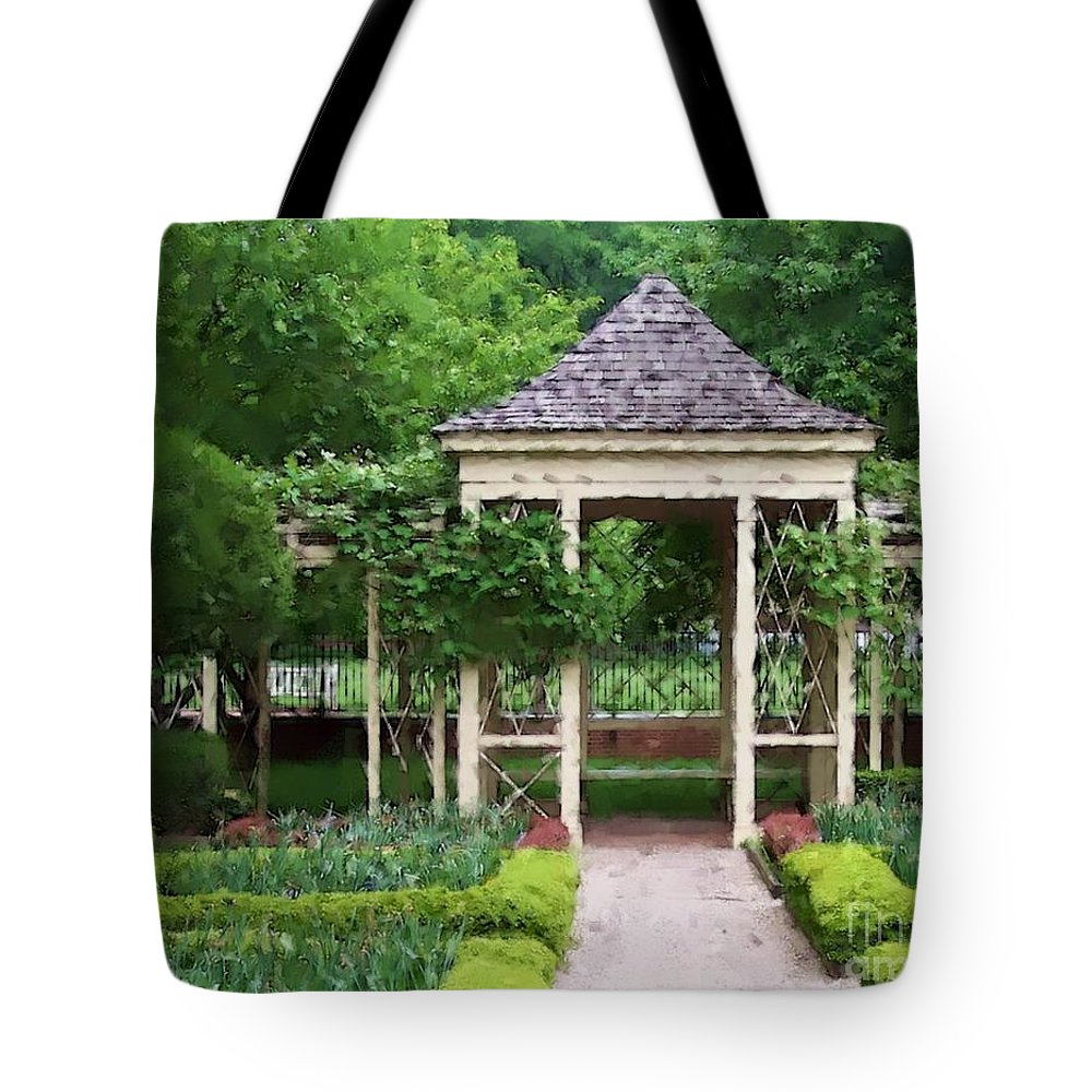 Garden Tote Bag featuring the photograph Tranquil by Debbi Granruth