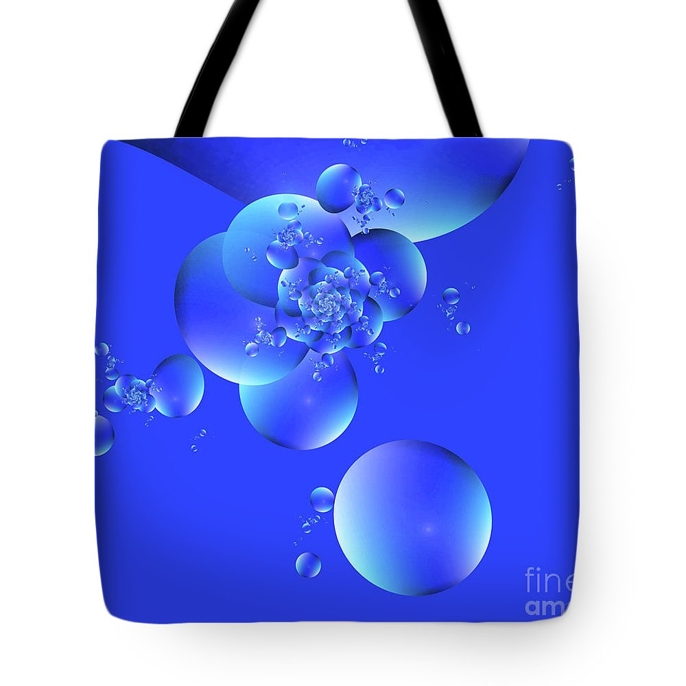 Digital Tote Bag featuring the digital art Tranquil Effervescence by Victoria Pepe -- LuminSonics