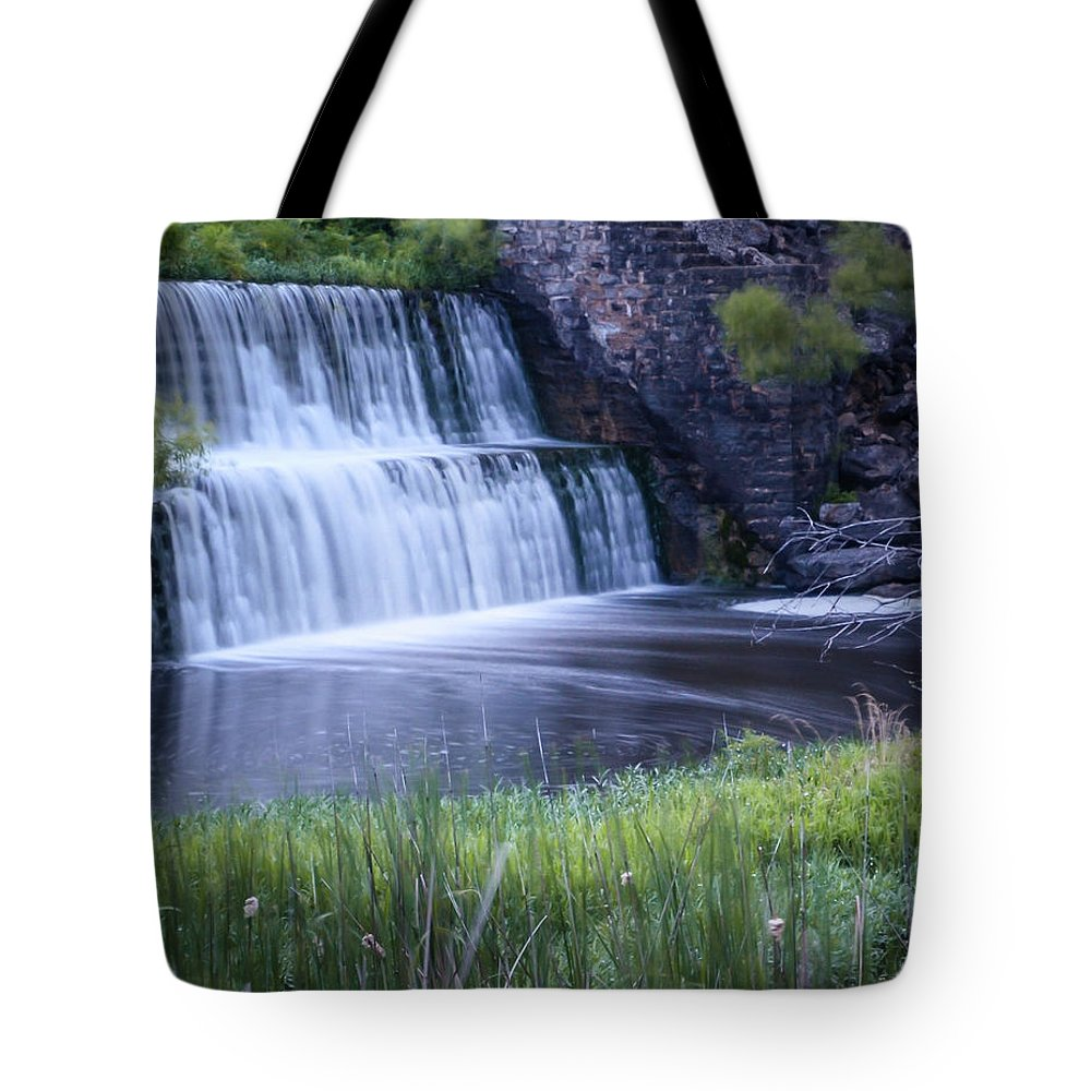 Nature Tote Bag featuring the photograph Tranquil Falls by Steve Marler