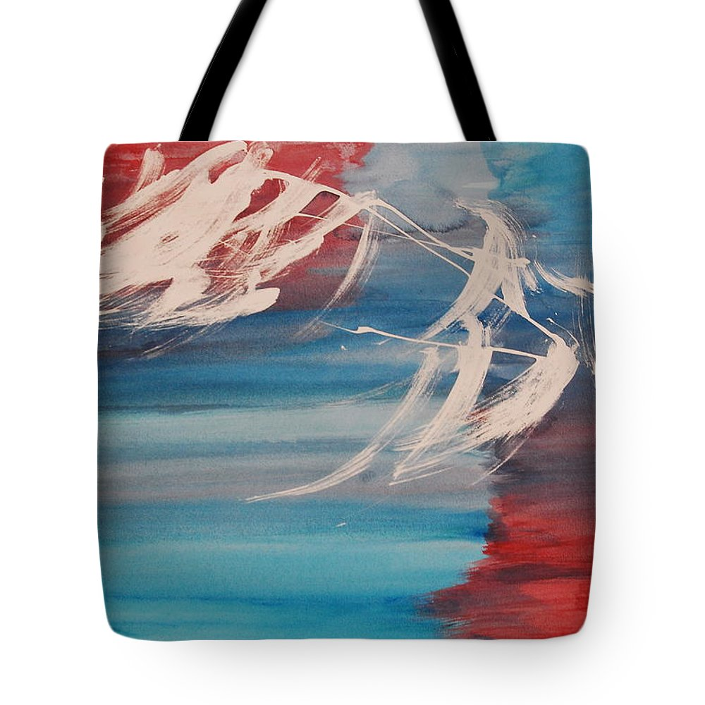 Tranquility Tote Bag featuring the painting Tranquilidad 2 by Lauren Luna