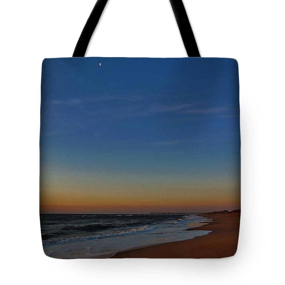 Mark Lemmon Cape Hatteras Nc The Outer Banks Photographer Subjects From Moon Tote Bag featuring the photograph Tranquility 5 4/11 by Mark Lemmon