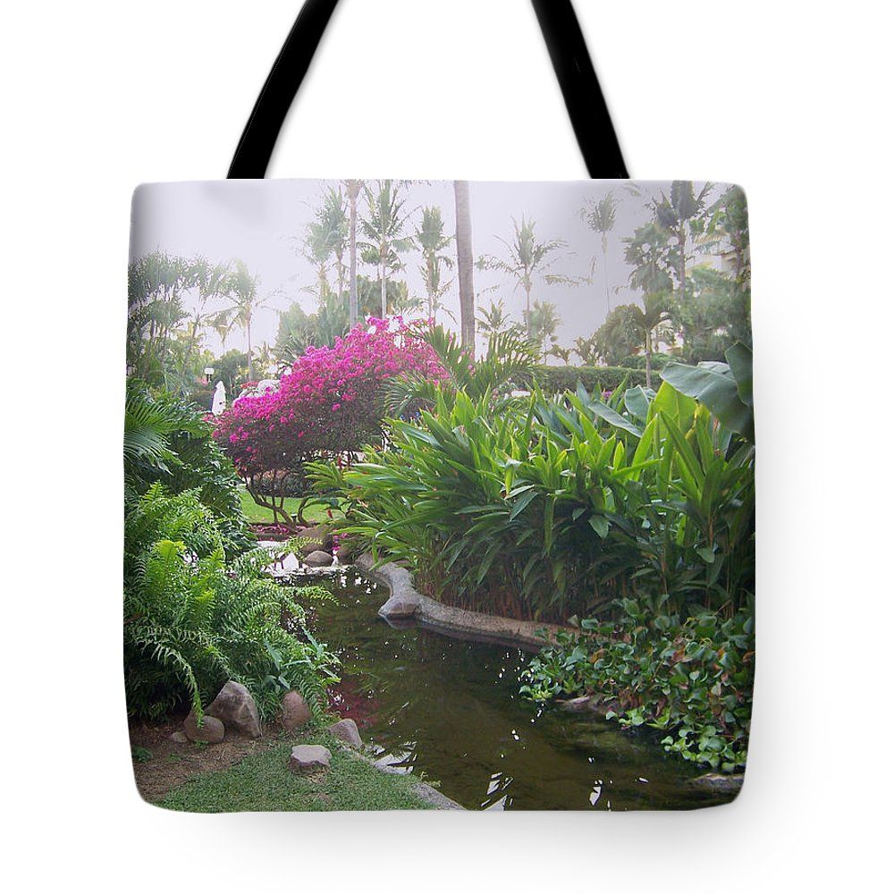 Photo Tote Bag featuring the pyrography Tranquility by George Pasini