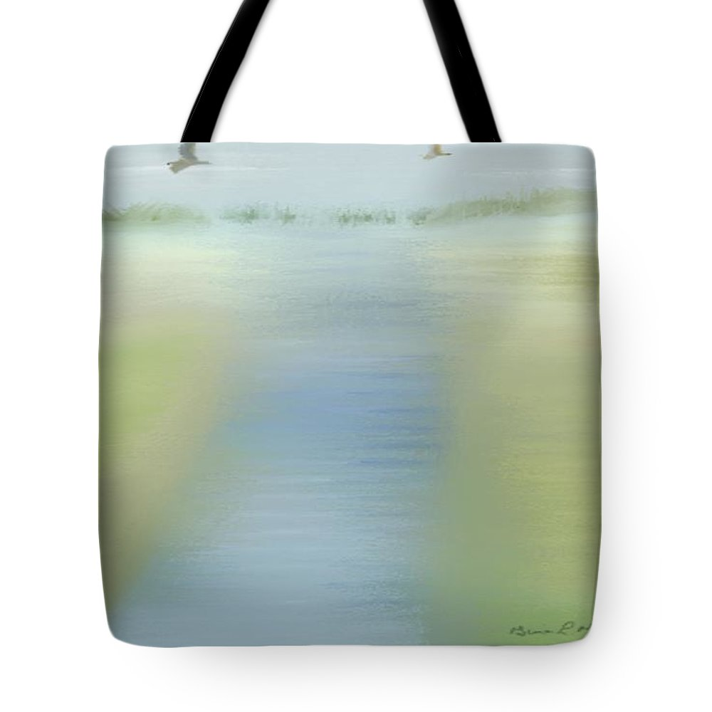 Mixed Tote Bag featuring the painting Tranquility by Gina Lee Manley