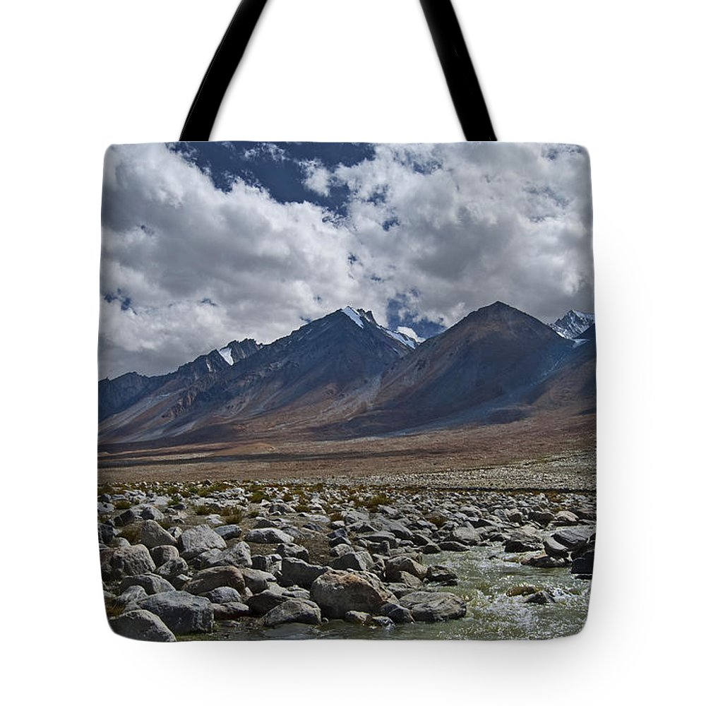 Festblues Tote Bag featuring the photograph Tranquility... by Nina Stavlund