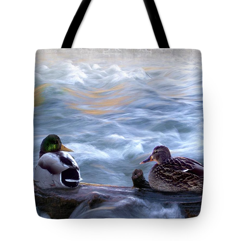 Wildlife Tote Bag featuring the digital art Tranquility On The River Of Life by Bill Stephens