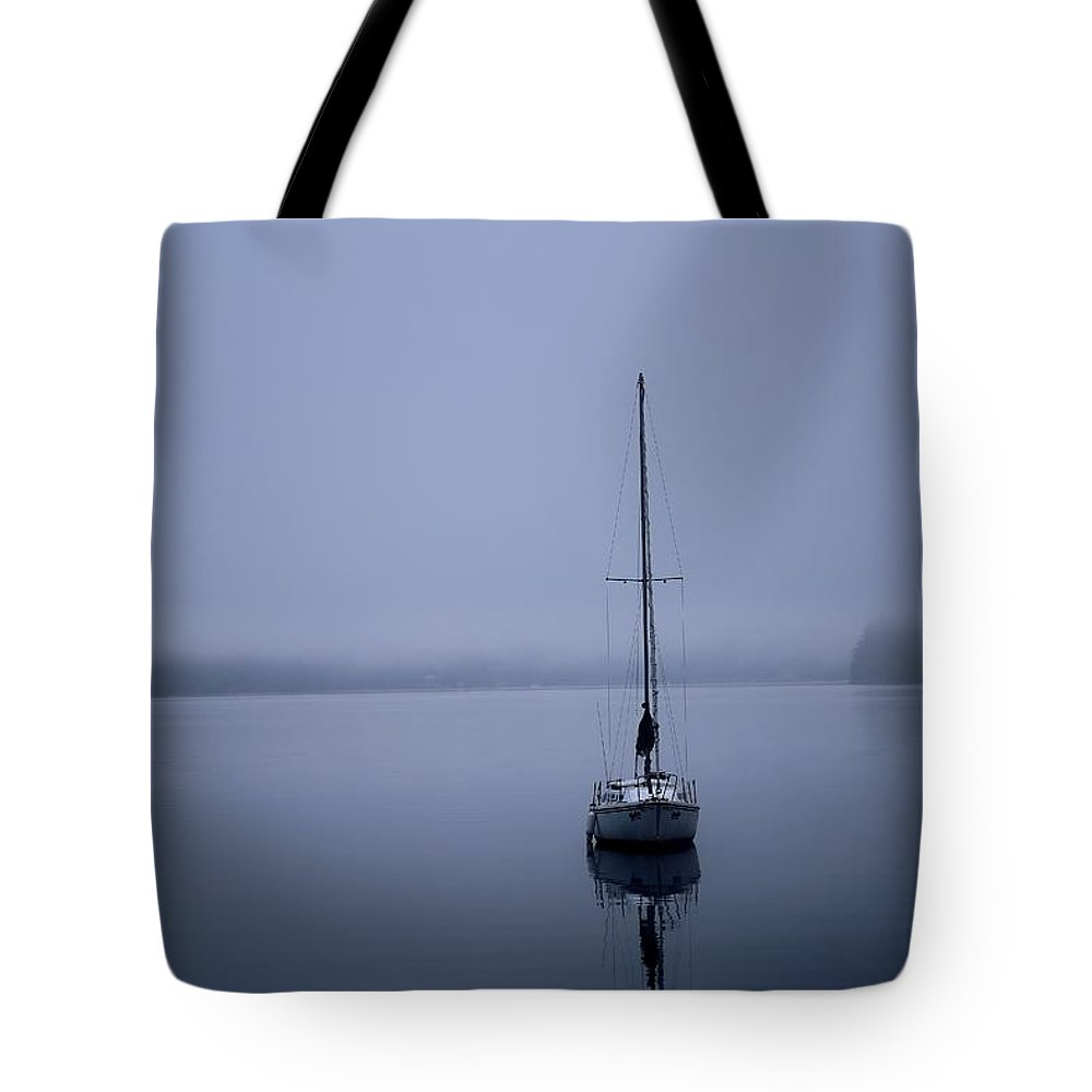 Boat Tote Bag featuring the photograph Tranquility by Shaun Pang