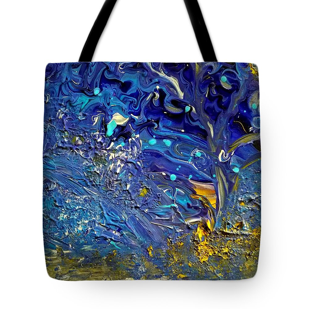 Tree Tote Bag featuring the painting Tranquility Tree by Nicole Clark