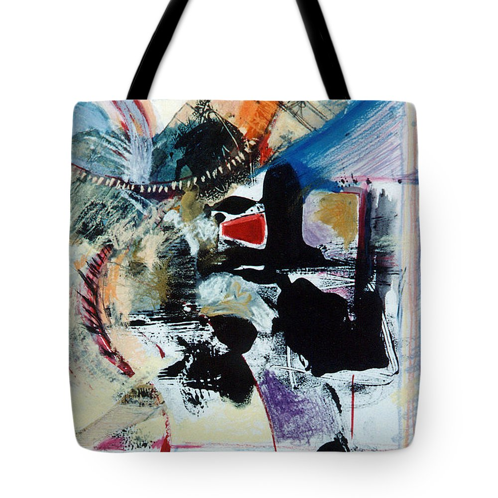 Transcendance Tote Bag featuring the drawing Transcendance by Kerryn Madsen-Pietsch