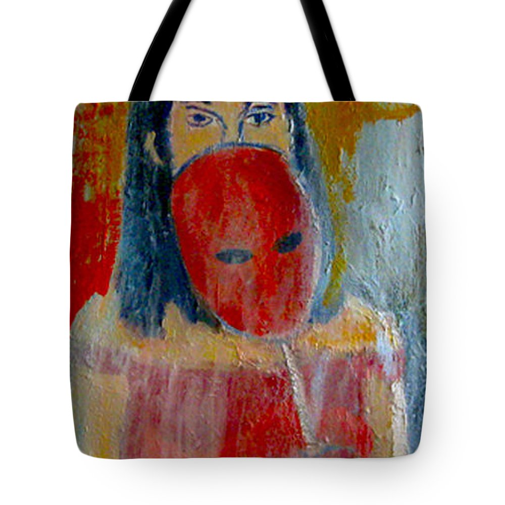 Oil On Canvas Tote Bag featuring the painting Transcendent - Transcendent by James Gallagher