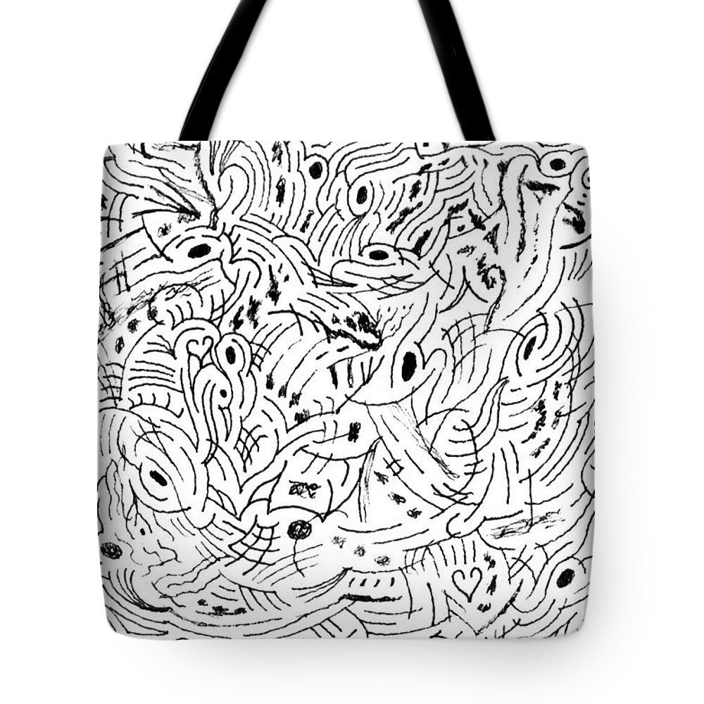 Mazes Tote Bag featuring the drawing Transcendental by Steven Natanson