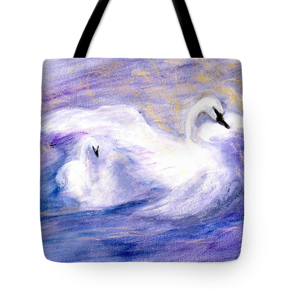 Birds Tote Bag featuring the painting Transformation by Gail Kirtz