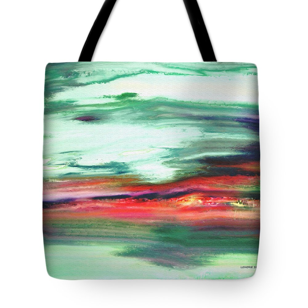 Abstract Tote Bag featuring the painting Transformation - My Back Yard 4 by Lenore Senior