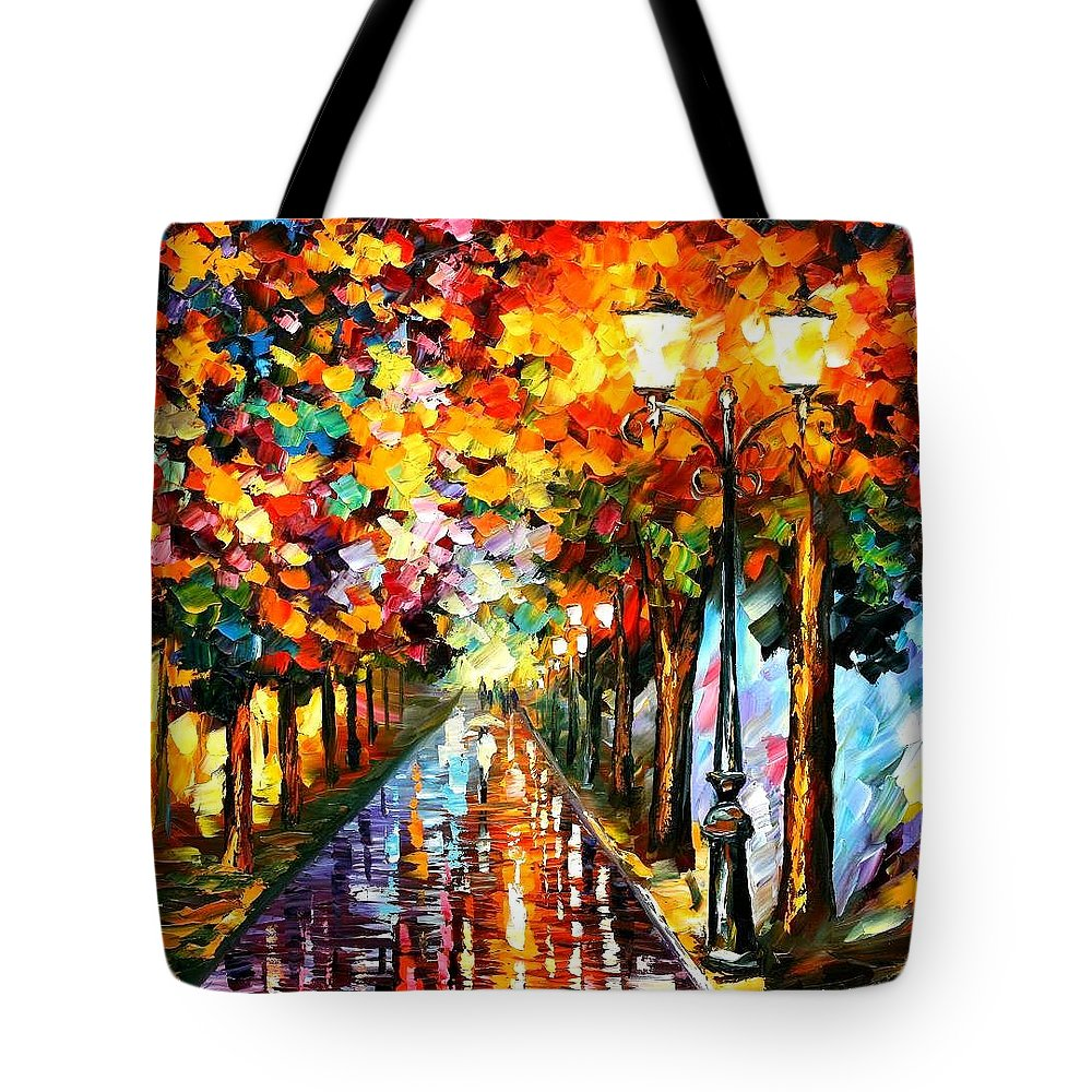 Afremov Tote Bag featuring the painting Transformation Of The Night by Leonid Afremov