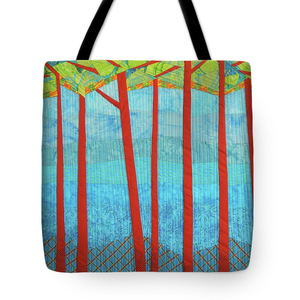 Tree Tote Bag featuring the tapestry - textile Transitions 1 by Linda Beach