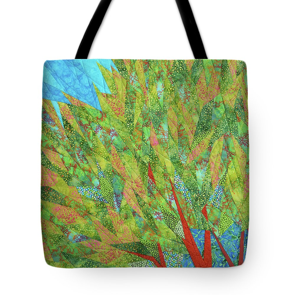 Tree Tote Bag featuring the tapestry - textile Transitions 2 by Linda Beach
