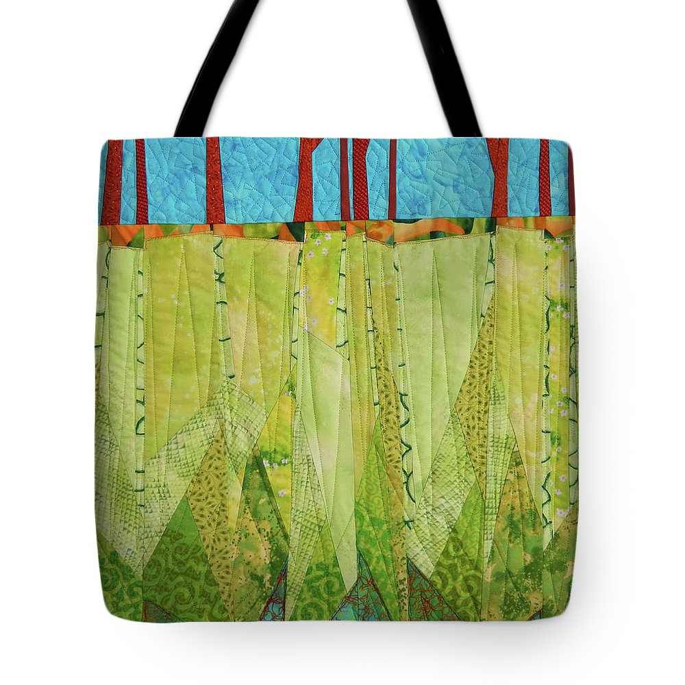 Tree Tote Bag featuring the tapestry - textile Transitions 3 by Linda Beach