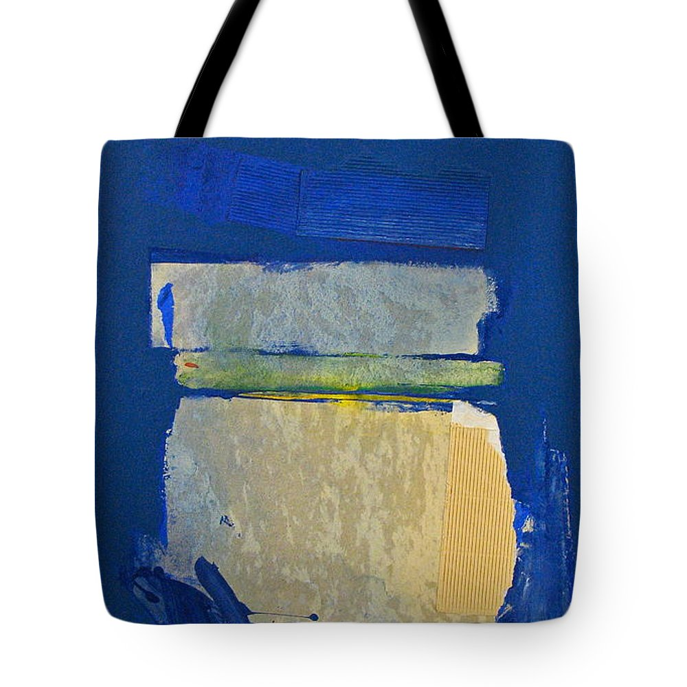 Abstract Paintings Tote Bag featuring the painting Transition 5 Slabs by Cliff Spohn