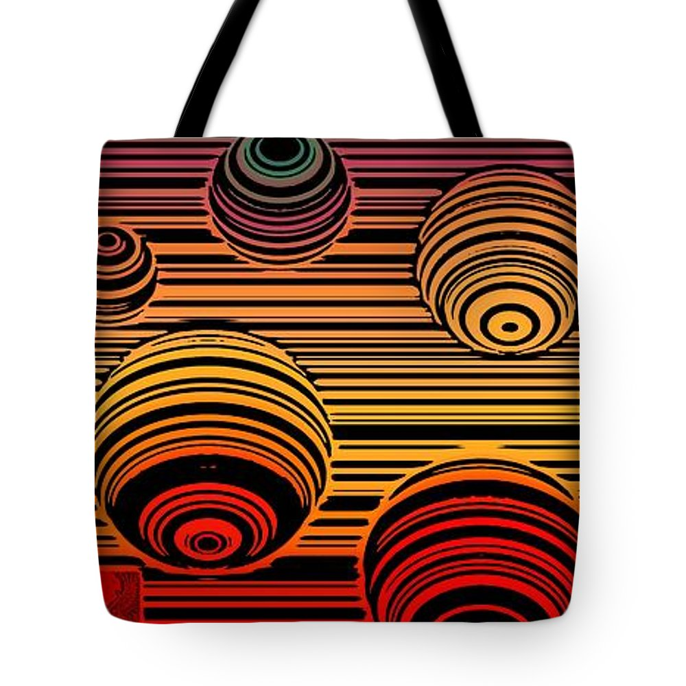 Colorful Tote Bag featuring the digital art Transitional Flow Map by Dale Crum