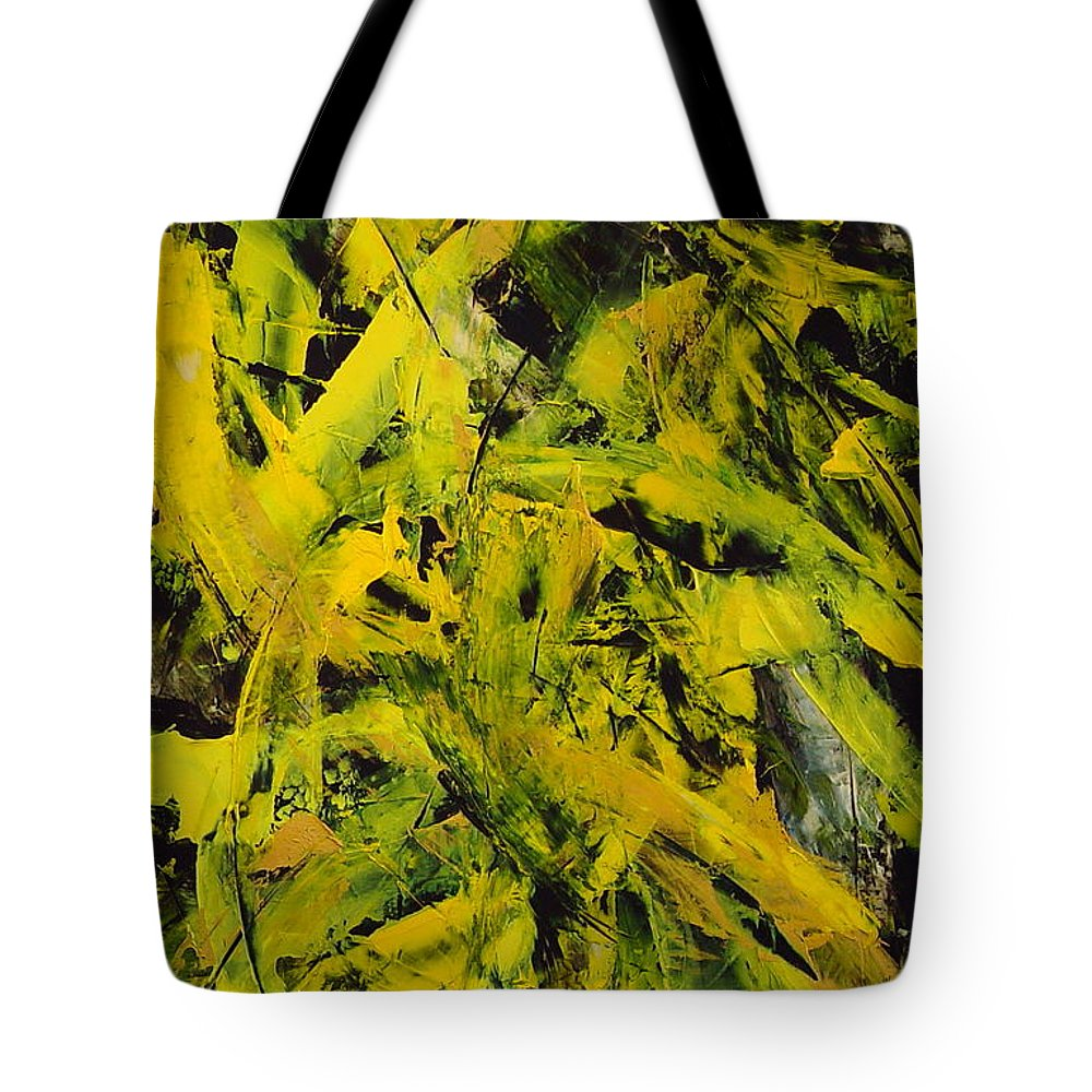 Abstract Tote Bag featuring the painting Transitions Vi by Dean Triolo