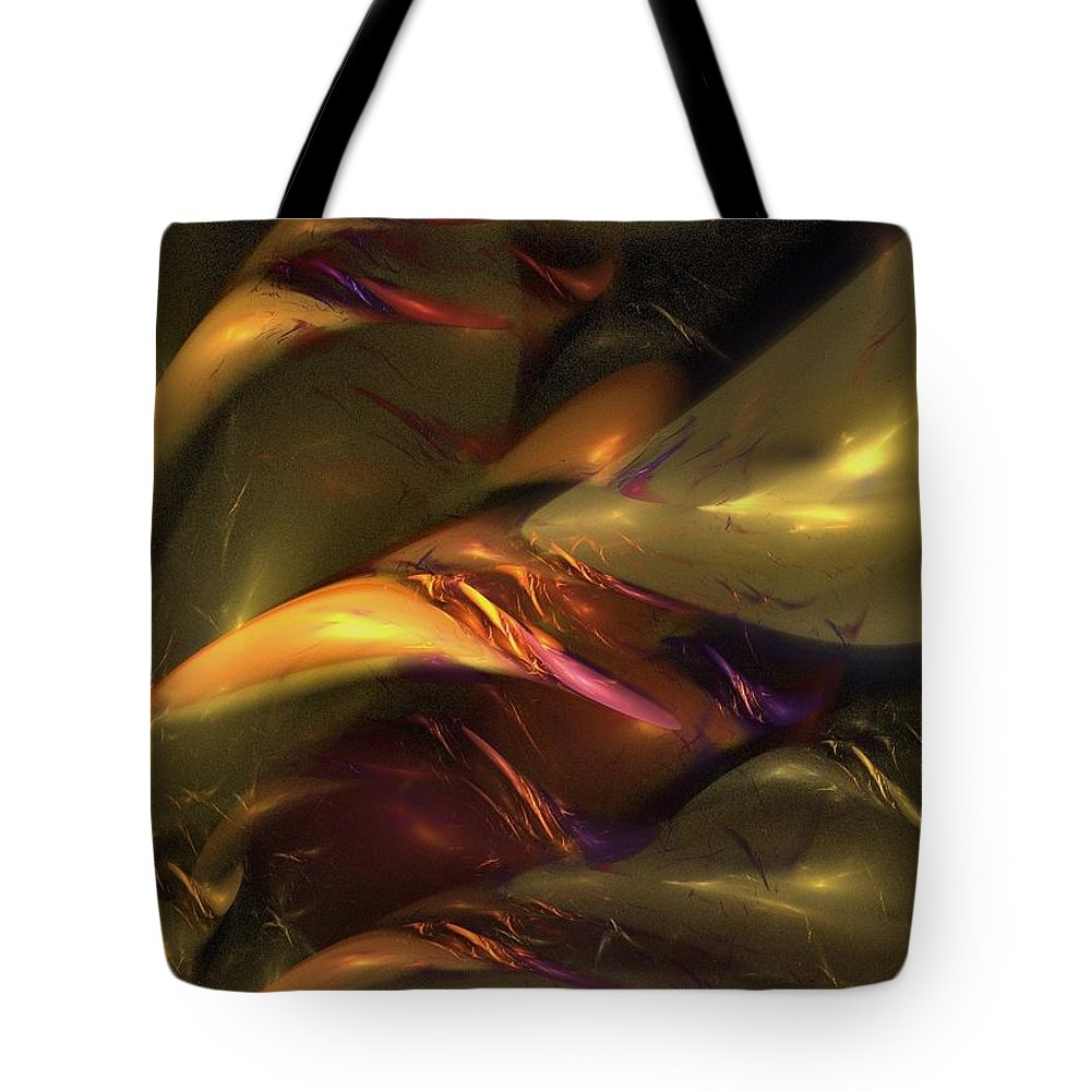 Amber Tote Bag featuring the digital art Trapped In Amber by NirvanaBlues