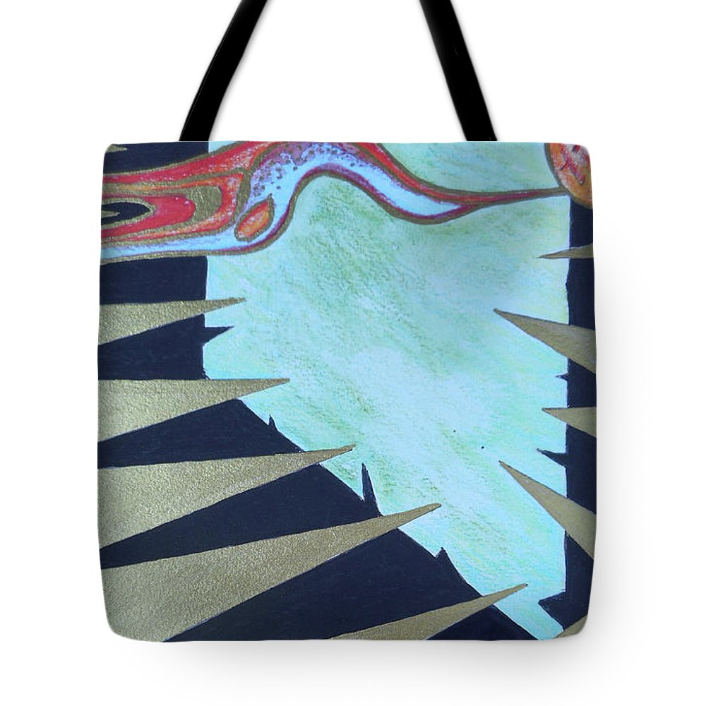 Katerina Stamatelos Tote Bag featuring the painting Trapped by Katerina Stamatelos