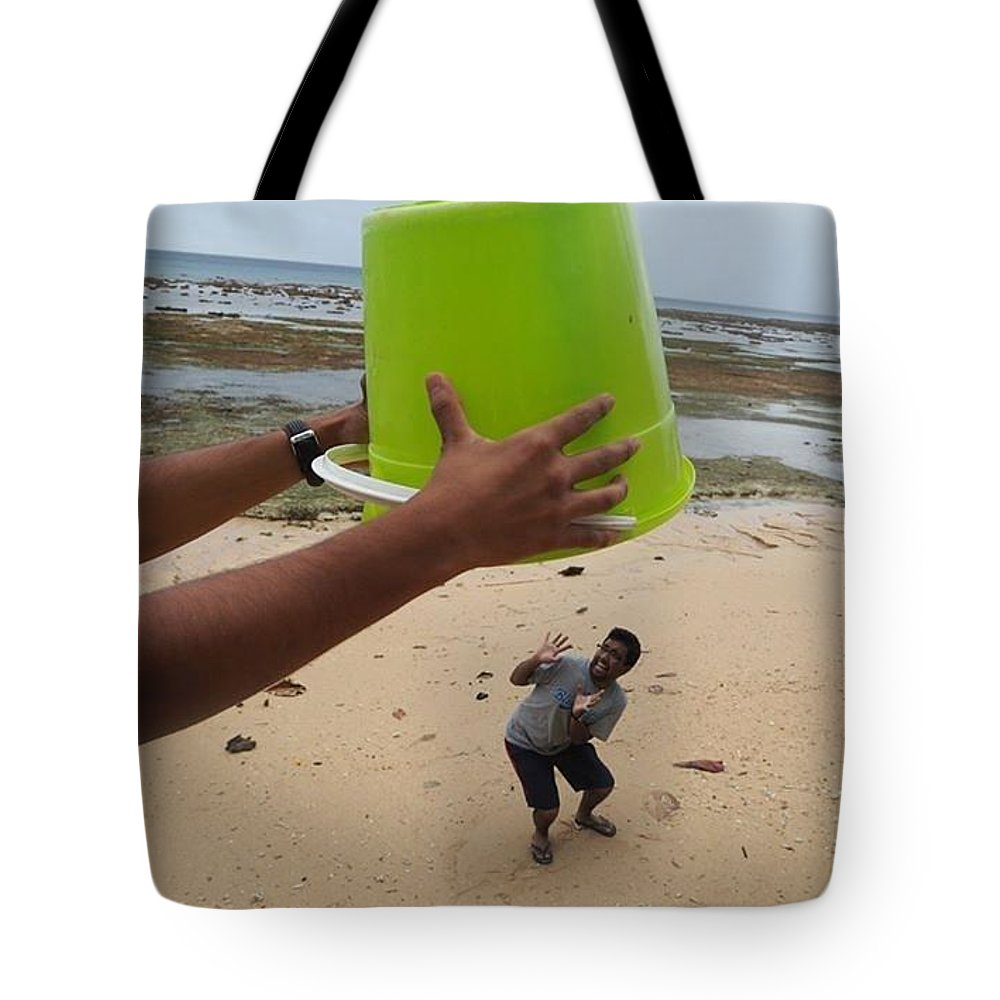 Based On The Climate Change That Is Affecting Our Pacific Island Fiji Tote Bag featuring the photograph Trapped by Mere Rasue