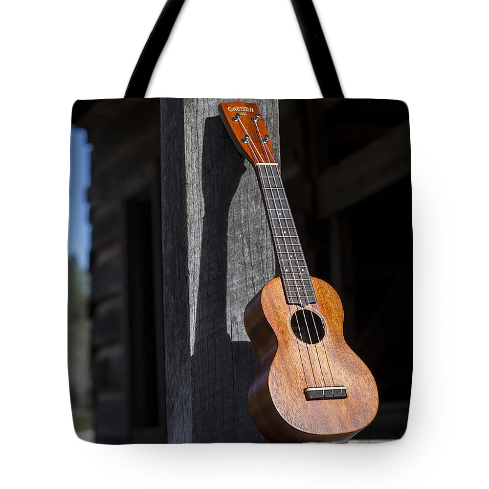Ukulele Tote Bag featuring the photograph Travel Light by Keith May