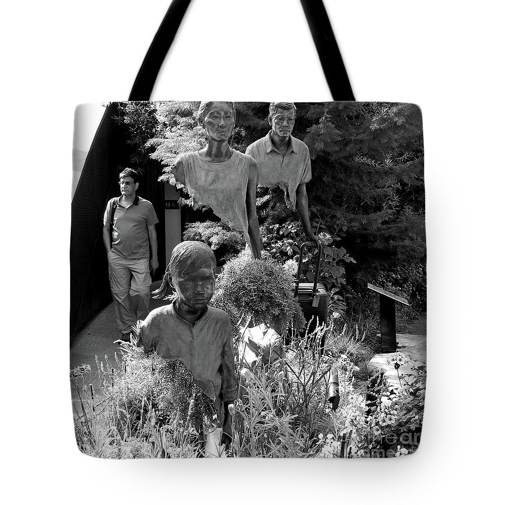 Walk Tote Bag featuring the photograph Travelers by PJ Boylan