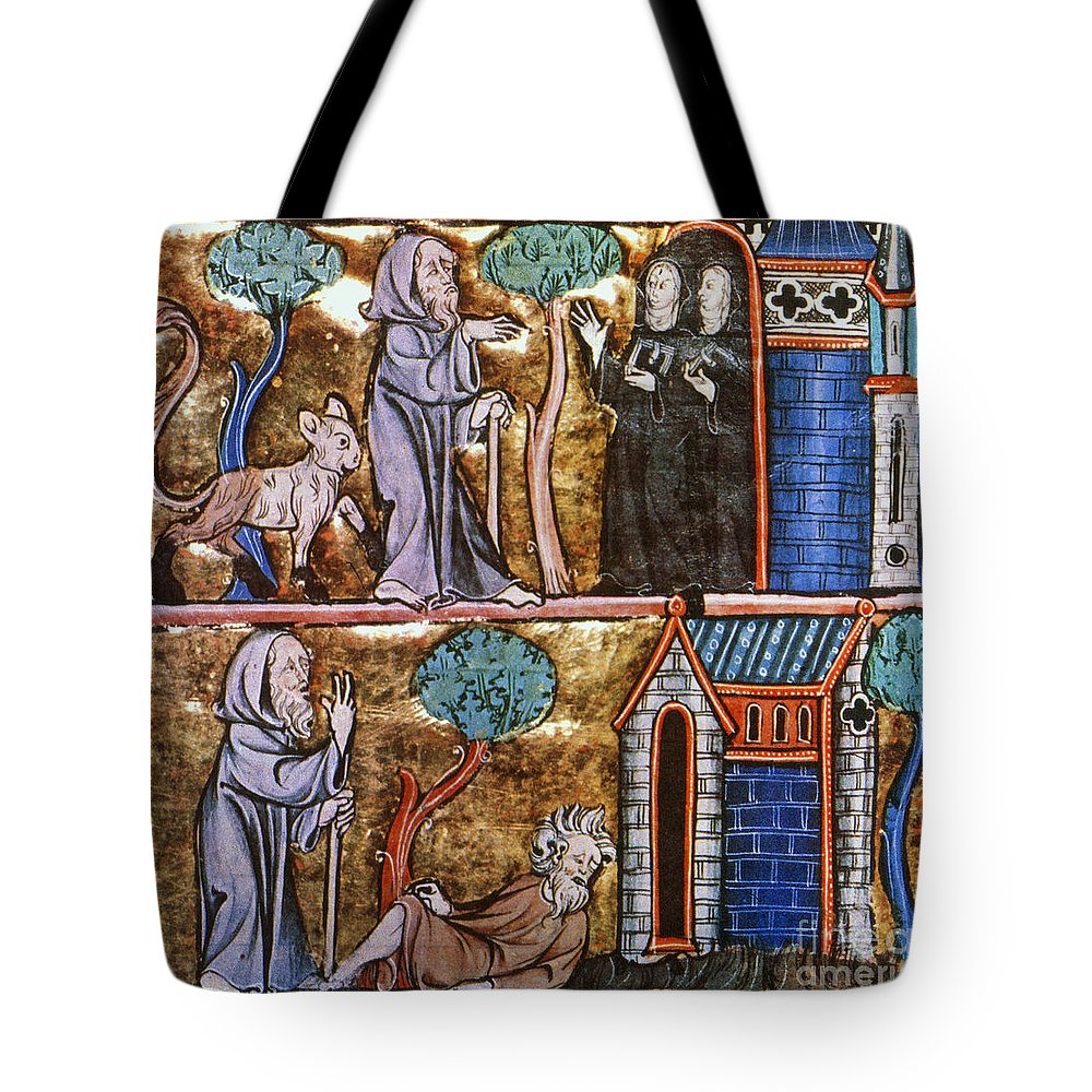 14th Century Tote Bag featuring the photograph Travels Of Merlin by Granger