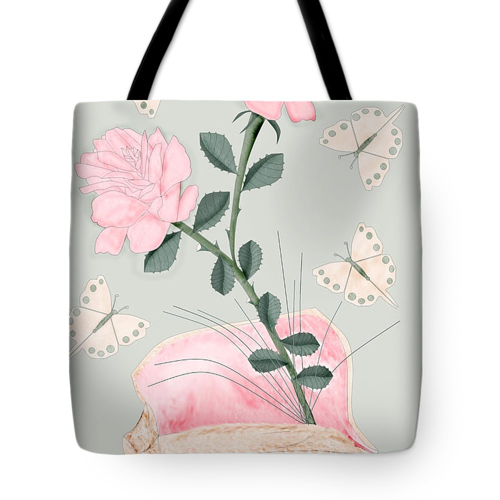 Conch Shell Tote Bag featuring the painting Treasures by Anne Norskog
