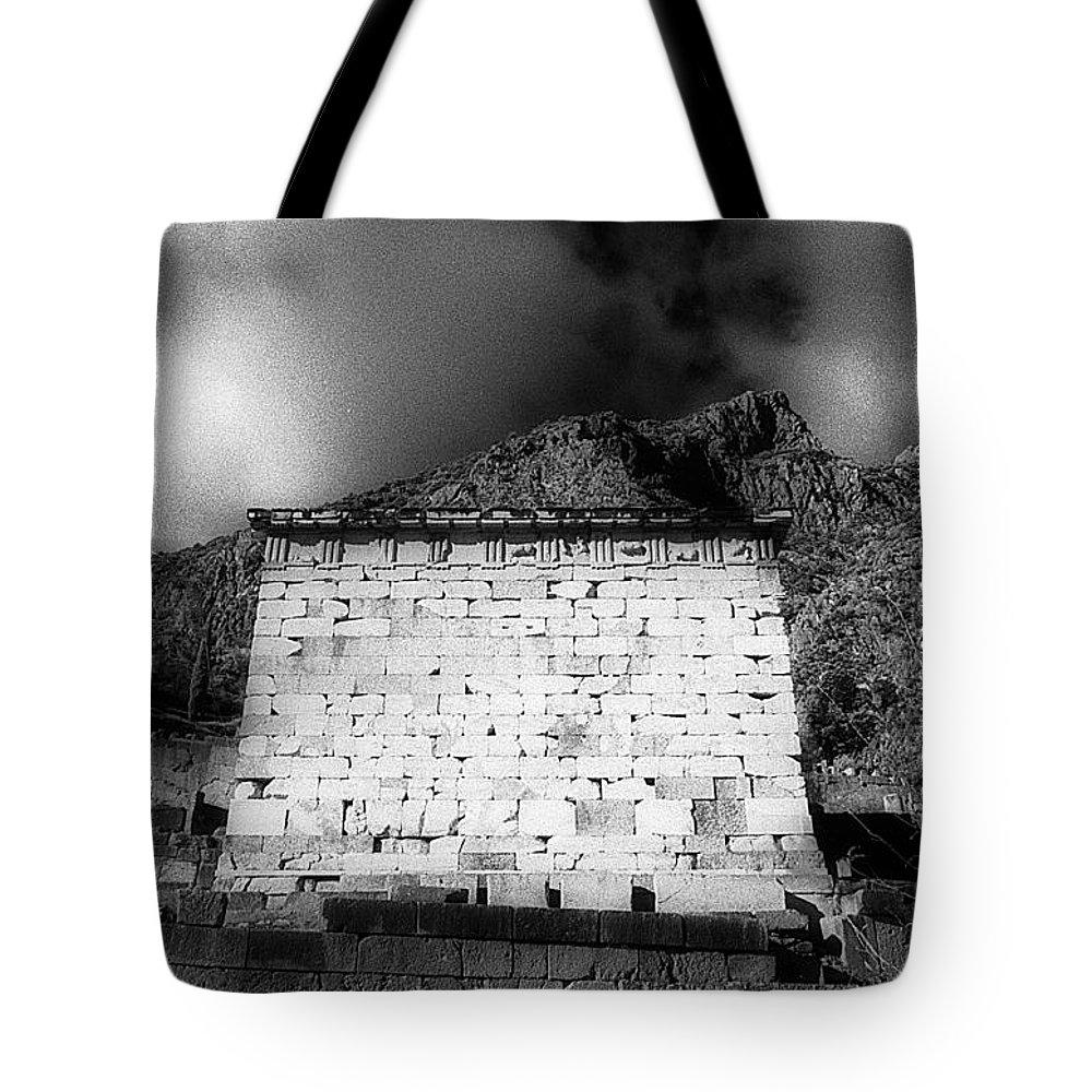 Treasury Athenians Tote Bag featuring the photograph Treasury Of Athenians by Andonis Katanos