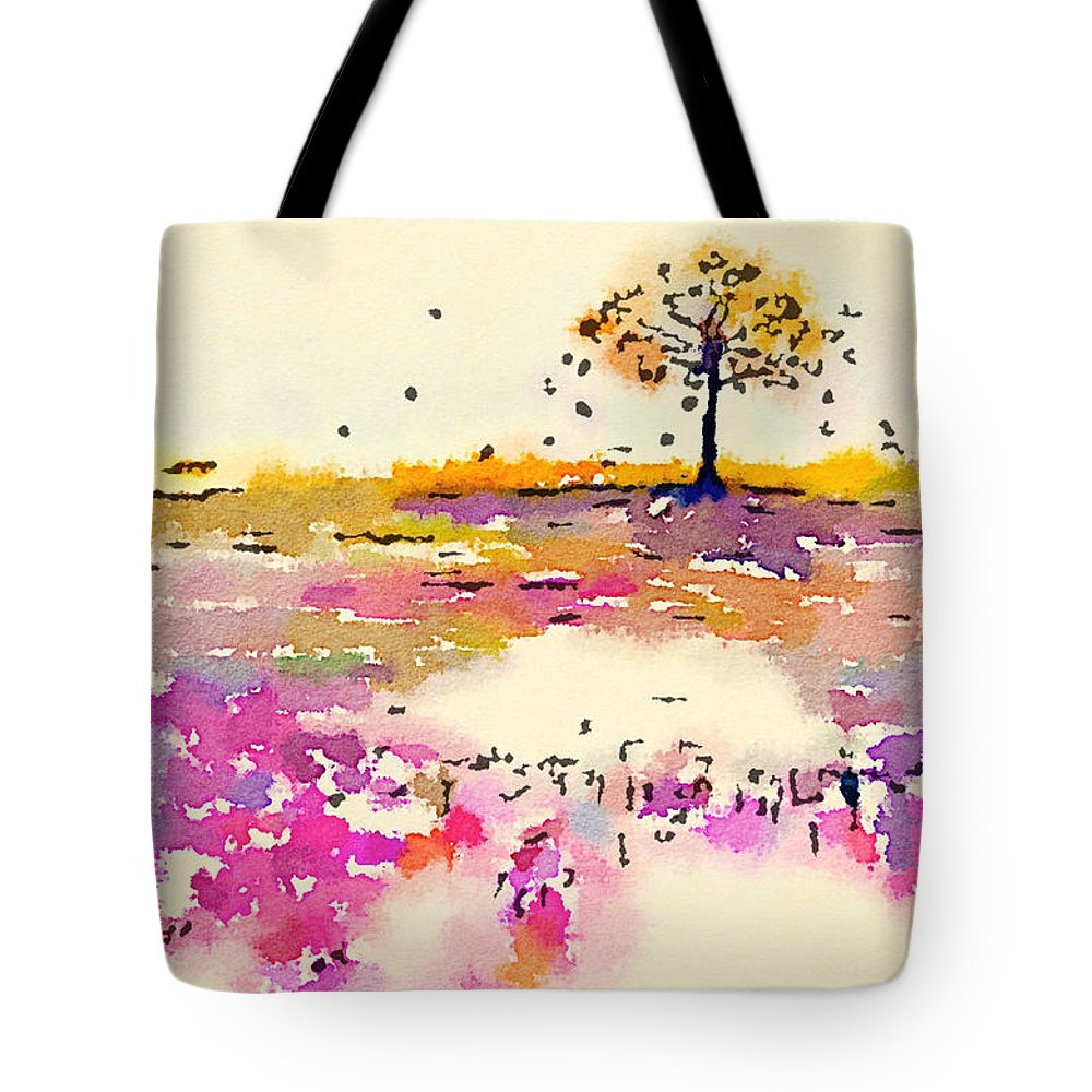 Landscape Tote Bag featuring the painting Tree 2 by Vanessa Katz
