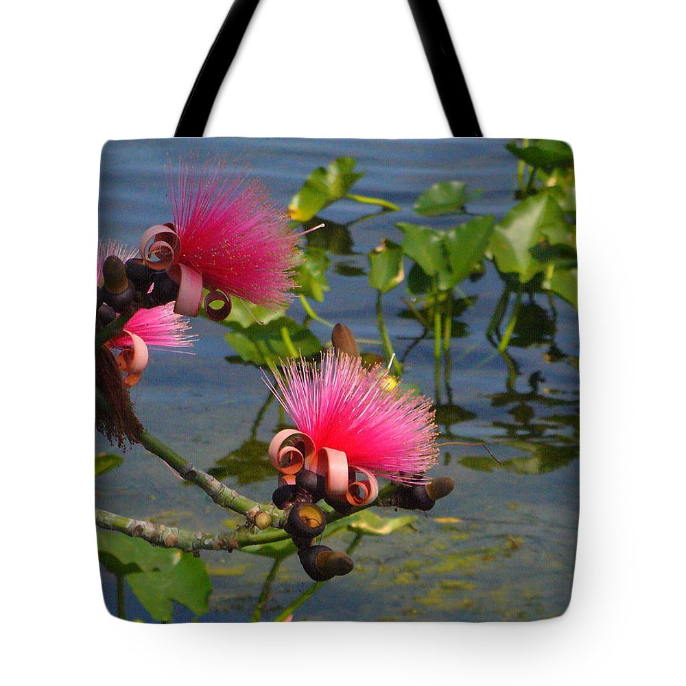 Pink Tote Bag featuring the photograph Tree Blossoms by Peggy King