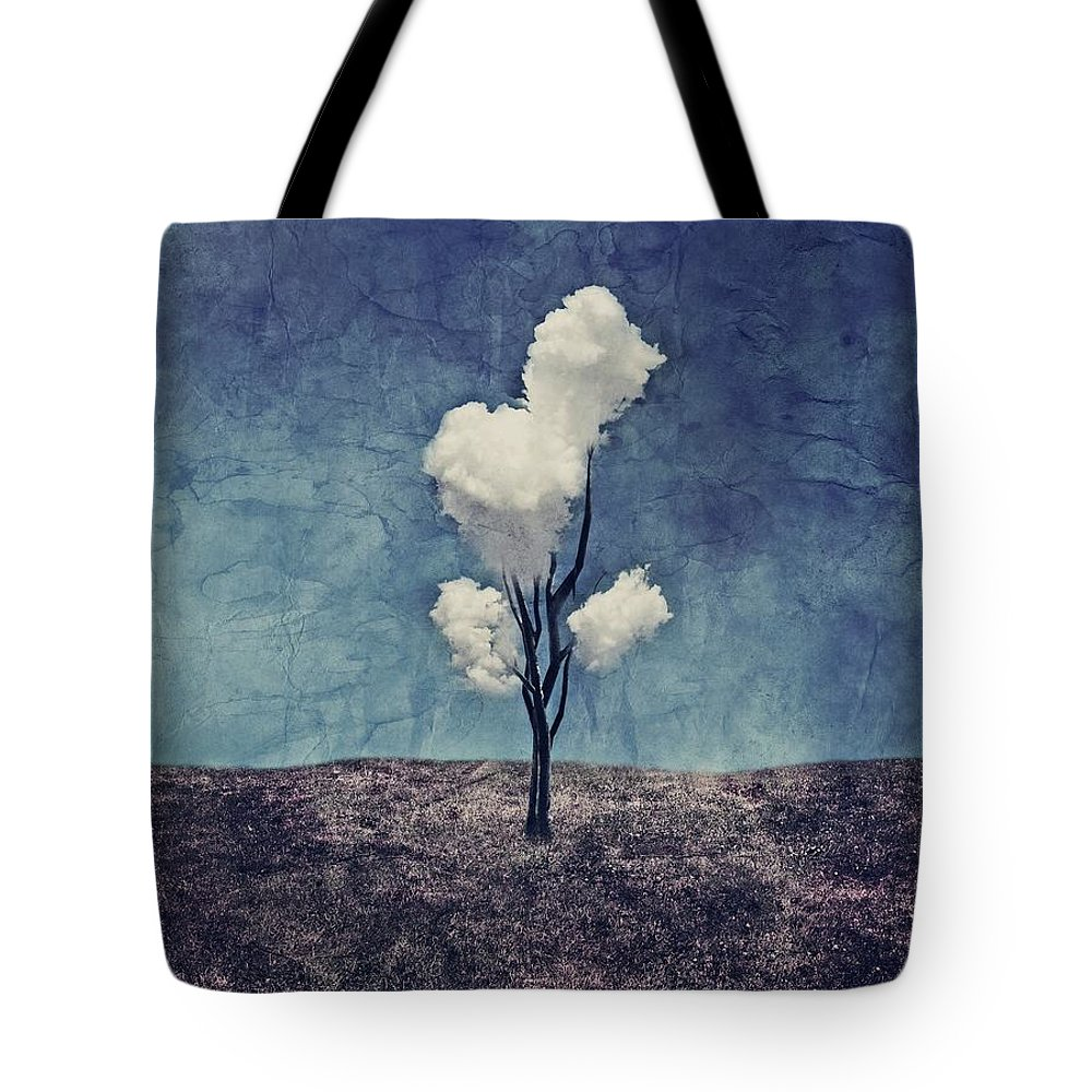 Tree Tote Bag featuring the digital art Tree Clouds 01d2 by Aimelle